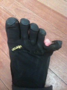 Vibram Five Finger Shoes Ripped