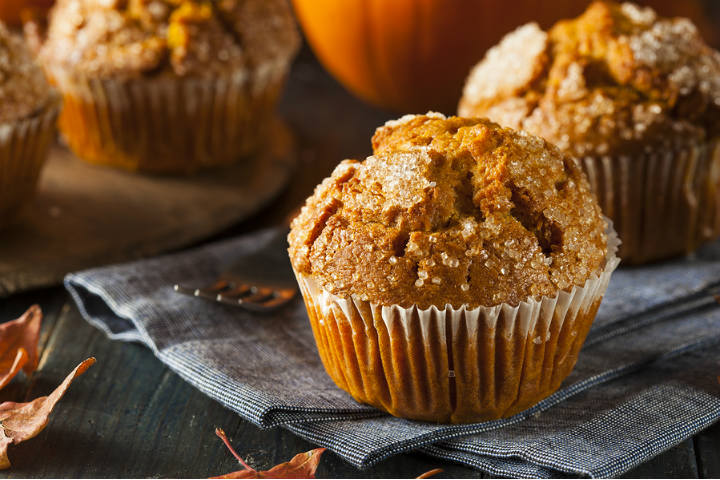 homemade hazelnut orange muffins