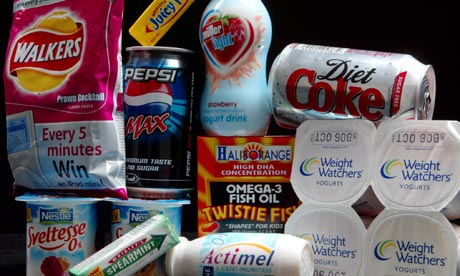 Foods containing Aspartame