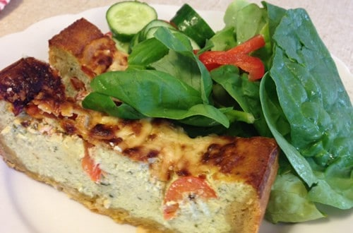 Low Carb/High Protein Roasted Tomato & Ricotta Tart