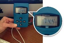 emf meter reading computer