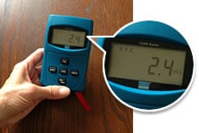 emf meter reading dining room