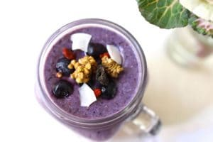 blueberry high protein smoothie