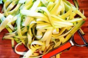 wheat free zucchini pasta