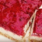 dairy free raspberry cheesecake