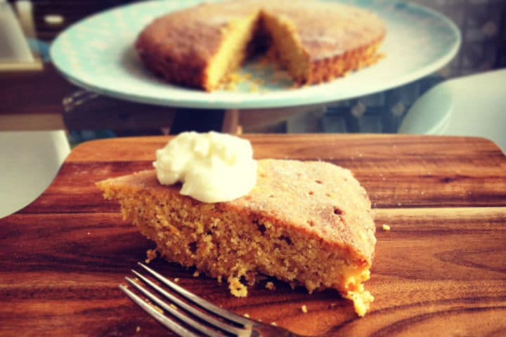 Protein Rich Orange and Polenta Cake