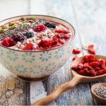 healthy breakfast bowl smoothie