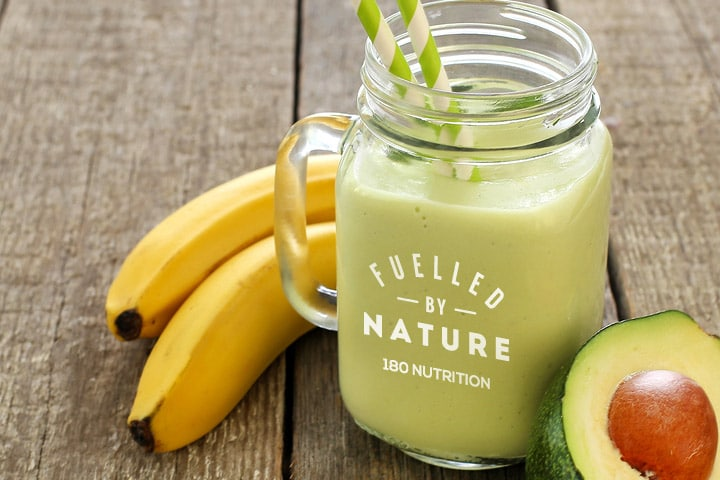 creamy banana smoothie 180 nutrition