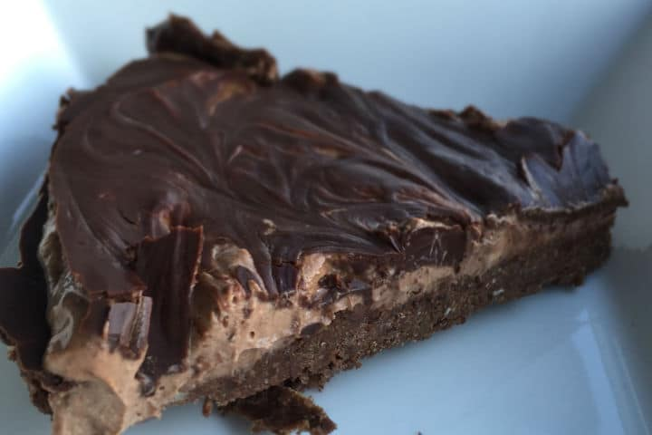 Triple Chocolate Vegan cheesecake