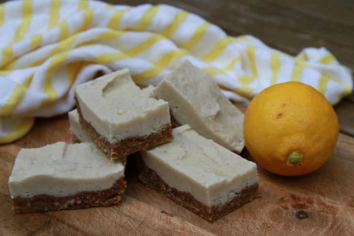 Raw Lemon & Cashew Slice