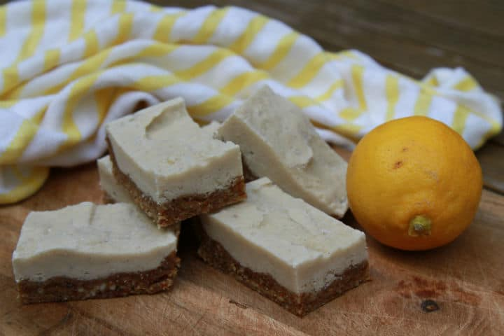 Lemon and Cashew Slice