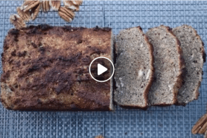 homemade healthy banana bread