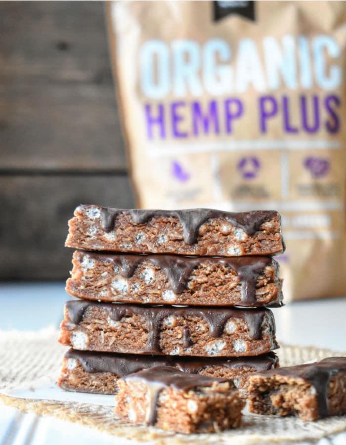 Chocolate Peanut Butter Hemp Protein Bars