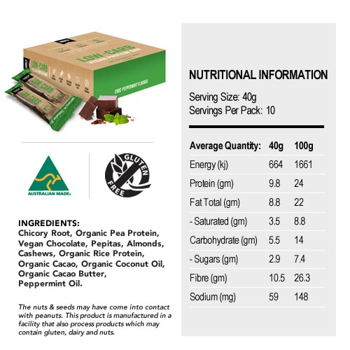 Low Carb Vegan Protein Bars Nutritional Information