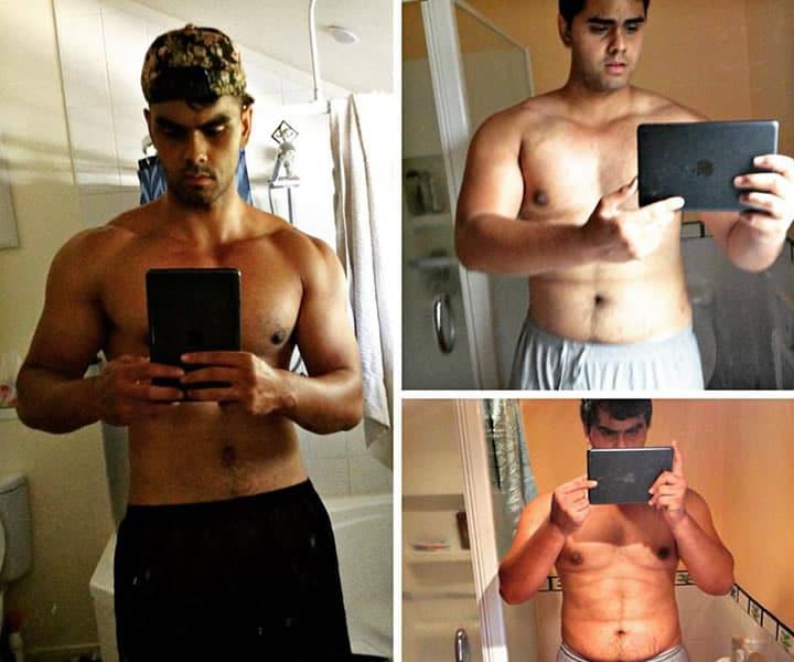 weight loss transformation selfie