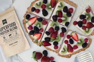healtyhy breakfast fruit pizza