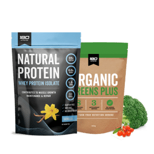 whey protein isolate and organic greens bundle
