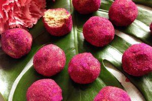 Pink Vegan Protein Balls