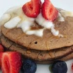 cacao and coconut pancakes