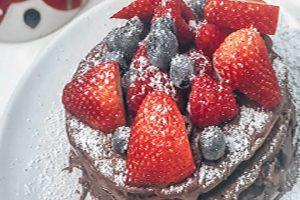 Festive Chocolate Protein Pancakes