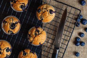Vanilla Berry Protein Muffins